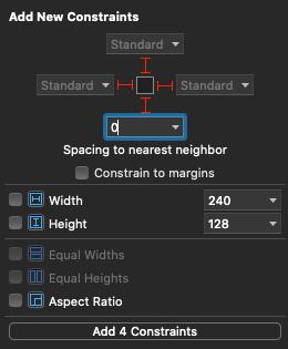 AutoLayoutに0を入力すると、Standardになる
