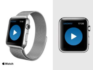 Snoway Apple Watch Start画面